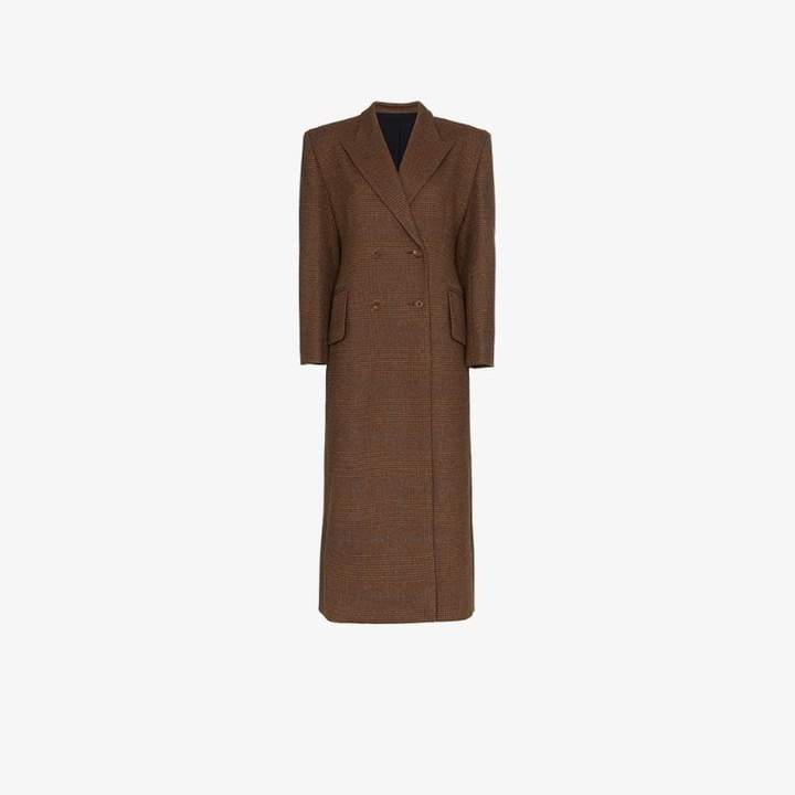 Wright Le Chapelain double-breasted wool coat