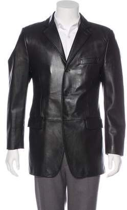 Dolce & Gabbana Leather Blazer