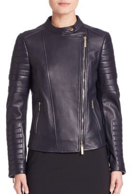 Sahena Leather Moto Jacket $1,095 thestylecure.com