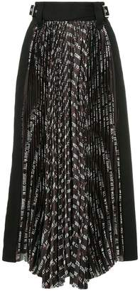 Sacai All In Due Course skirt