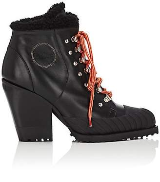 Chloé Women's Rylee Leather & Shearling Ankle Boots - Black