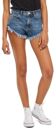 Women's Topshop Kiri Denim Shorts $52 thestylecure.com