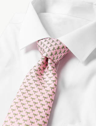 272a9449ffce M&S Collection LuxuryMarks and Spencer Pure Silk Dragonfly Print Tie