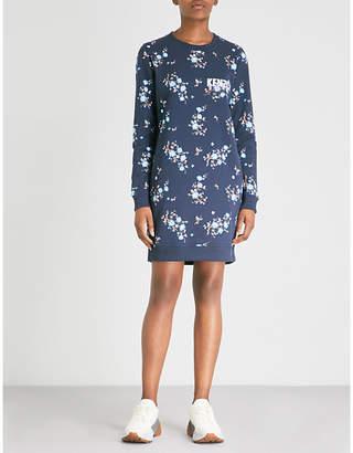 Kenzo Floral-print cotton-jersey sweatshirt dress