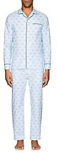 Maison Marcy Men's Magritte Slim Cotton Pajama Set-Lt. Blue