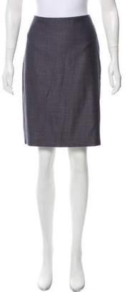 Giorgio Armani Virgin Wool Knee-Length Skirt