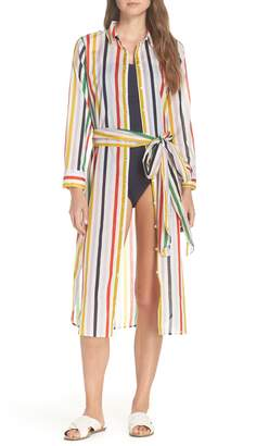 J.Crew Long Lightweight Shirtdress Cover-Up