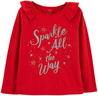 Carter's Christmas Sparkle Tee - Preschool Girl