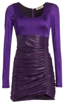 Roberto Cavalli Ruched Mini Dress