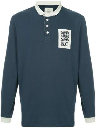 Kent & Curwen rose patch polo shirt