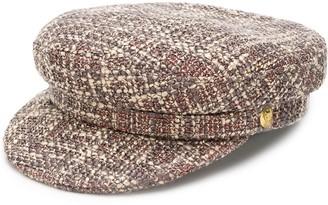 Manokhi tweed biker hat
