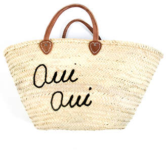 Oui Oui Haathi House Straw Market Bag