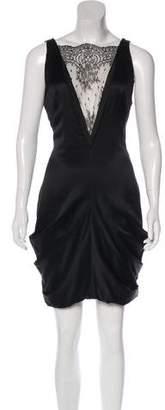 Alexander McQueen Silk Lace-Accented Dress
