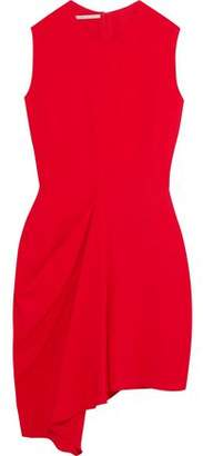Stella McCartney Draped Stretch-Crepe Mini Dress