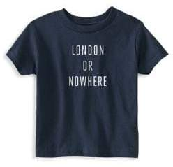 Toddler's & Little Kid's London Or Nowhere Cotton Graphic Tee