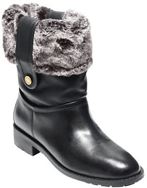 Cole Haan  Cole Haan Breene Waterproof Leather & Faux Shearling Boots