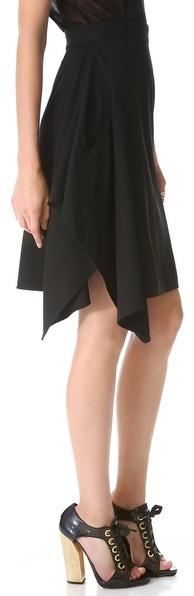Jean Paul Gaultier Pencil Ruffle Skirt