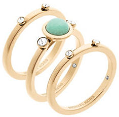 MICHAEL Michael Kors Michael Kors Easy Opulence Blue Jade Stack Ring - Set of 3