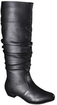 Mossimo Women's Kaylor Tall Slouch Boot - Black