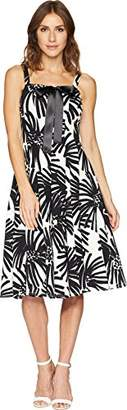 Taylor Dresses Women's Printed Lace Up Bodice Sleeveless