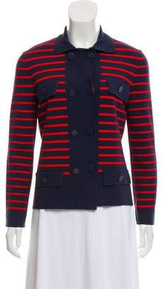Tory Burch Anya Striped Lightweight Knit Jacket w/ Tags