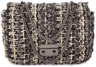 Cosmo Paris COSMOPARIS Tweed-Look Clutch Bag