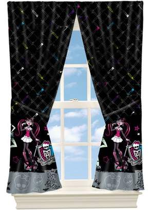Monster High Pins and Needles Girls Bedroom Curtain Panel, 63""