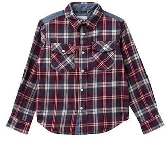 Joe's Jeans Mixed Media Plaid Shirt (Little Boys)