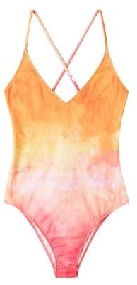 MANGO Tie-dye print swimsuit