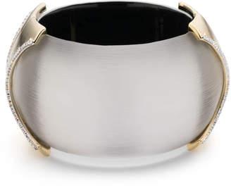 Alexis Bittar Large Dome Hinge Crystal Accent Bracelet