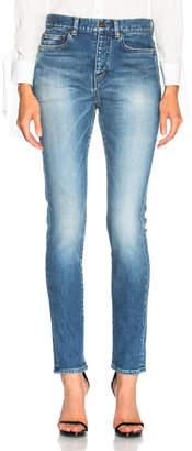 Saint Laurent Medium Rise Skinny Jeans