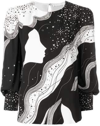 Chloé novelty print blouse