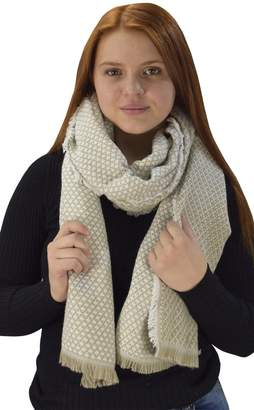 Couture Peach Herringbone Reversible Warm Over Sized Winter Blanket Scarf Shawl