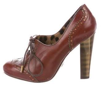 Dolce & Gabbana Leather Brogue Booties