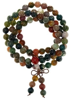 Jean Claude Multicolor Agate Bead Wrap Necklace/Bracelet