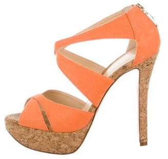 Alexandre Birman Woven Cork Sandals