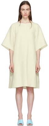 Mansur Gavriel Beige Linen Back Pleat Dress