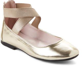 Nina Toddler Girls) Gold Marissa Elastic Strap Ballet Flats