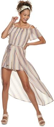 951e55c6681 Juniors  Lily Rose Off The Shoulder Walk Through Maxi Dress