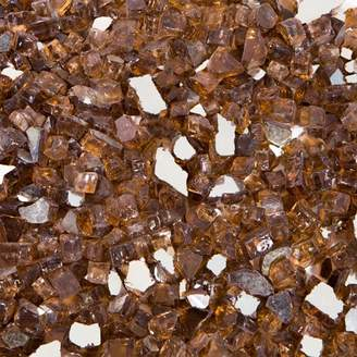 "BARTON 10 LBS 1/2"" Barton Rich Copper Reflective Fire Glass Fireplace Glass Rocks Fire Pit Crystals"