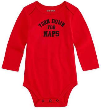 Okie Dokie Turn Down for Naps Long Sleeve Slogan Bodysuit - Baby NB-24M