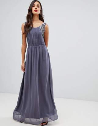 AX Paris pleated maxi dress with embellished detail