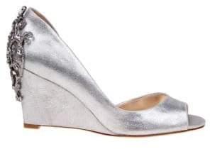 Badgley Mischka Meagan II Metallic Wedge Sandals