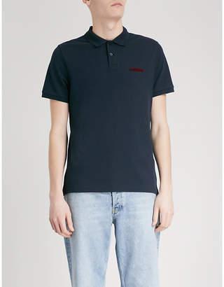 Sandro Amour cotton-piqué polo shirt