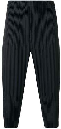 Issey Miyake Homme Plissé pleated drop crotch trousers