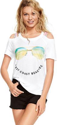 Victorias Secret Cold Shoulder Raglan Tee $32.95 thestylecure.com