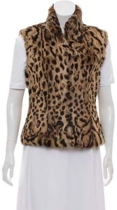 Adrienne Landau Fur Printed Vest w/ Tags