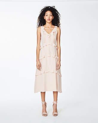 Nicole Miller Silk Midi Dress