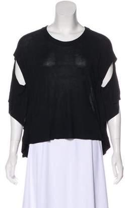 MM6 MAISON MARGIELA Knit Short Sleeve Top