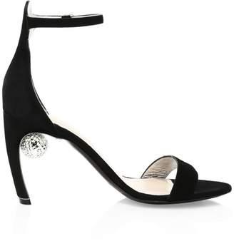 Nicholas Kirkwood Maeva Suede Ankle-Strap Heel